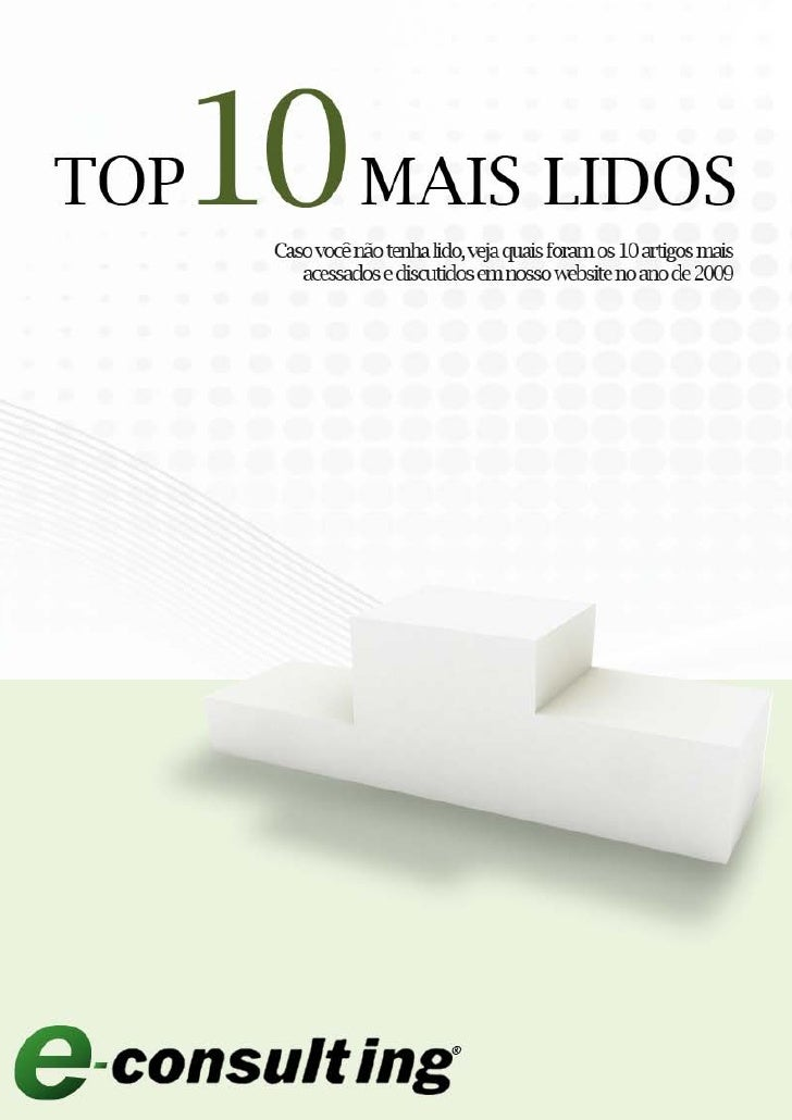 E-Book E-Consulting CorpTop 10 Mais Lidos 2010