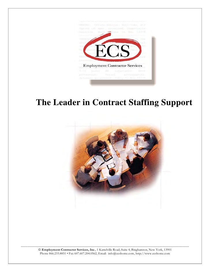 The Leader in Contract Staffing Support     ______________________________________________________________________________...