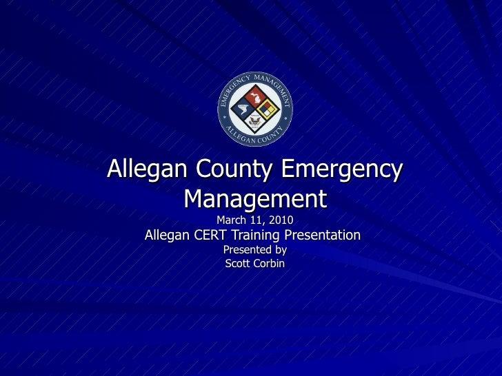 Allegan County Emergency Management Dept