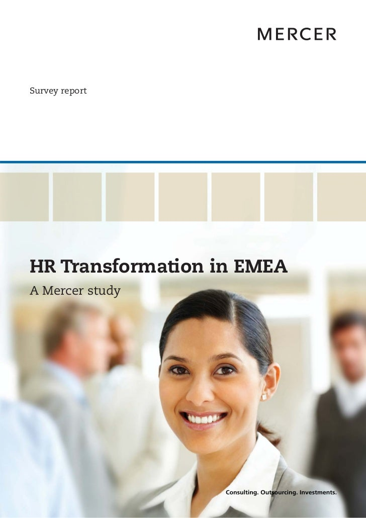 Survey reportHR Transformation in EMEAA Mercer study