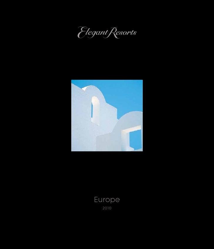 Elegant Resorts 2010  Europe Brochure