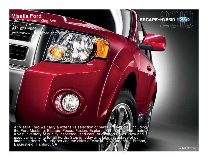 2010 Ford Escape Hybrid Fresno CA