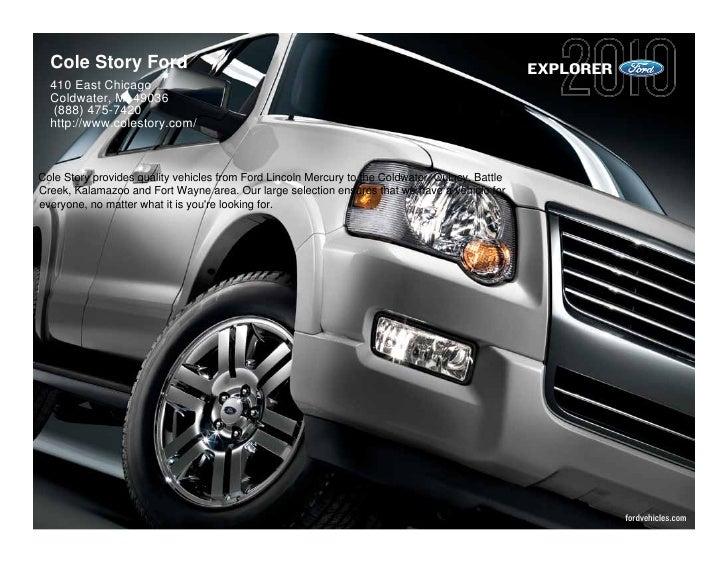 2010 Ford Explorer Cole Story Ford Kalamazoo MI