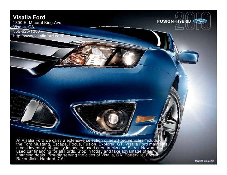 2010 Ford Fusion Fresno CA