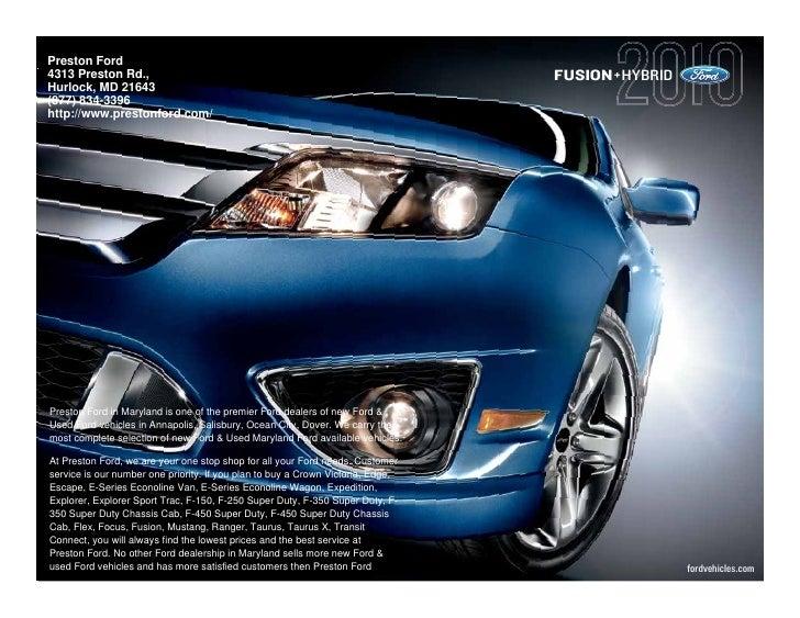 2010 Ford Fusion Annapolis