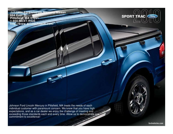 2010 Ford Sport Trac Pittsfield