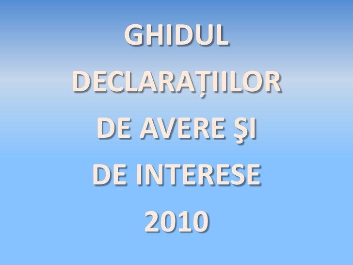 2010 ghidul declaratiilordeavere