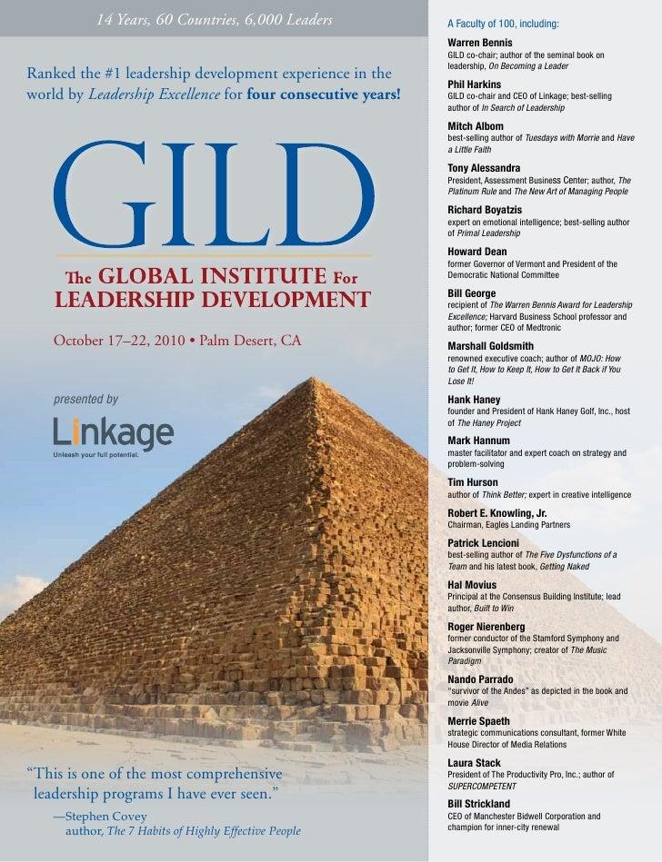 2010 Global Institute for Leadership Development