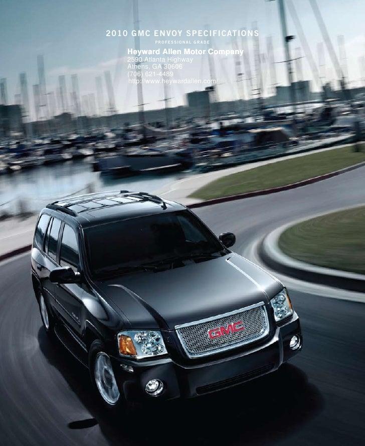 Dallas Buick: 2010 GMC Envoy Brochure Heyward Allen Motor Company