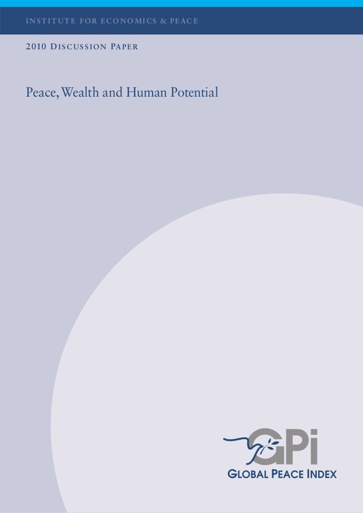2010 GPI Discussion Paper Institute for Economics and Peace