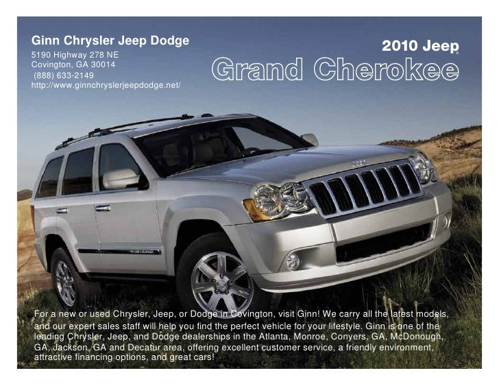 Ginn Chrysler Jeep Dodge 5190 Highway 278 NE                                                                              ...