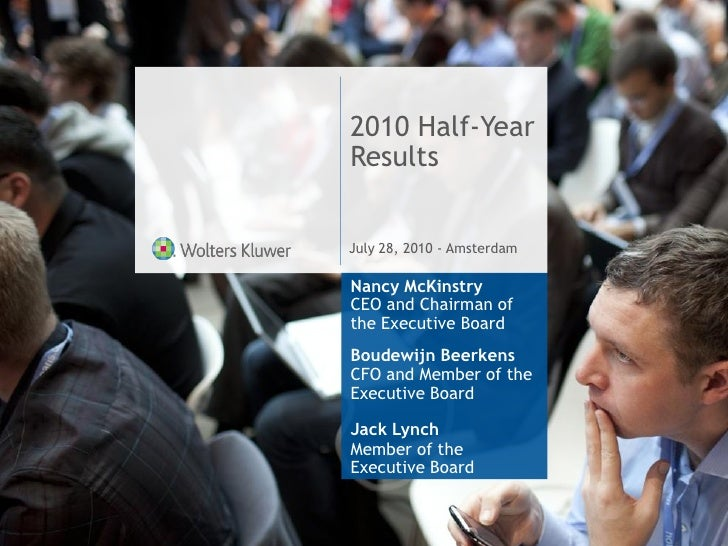 Wolters Kluwer 2010 Half-Year Results