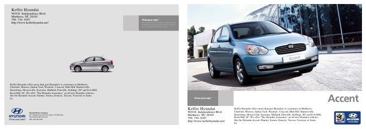 2010 Hyundai Accent Brochure Keffer Hyundai Matthews NC