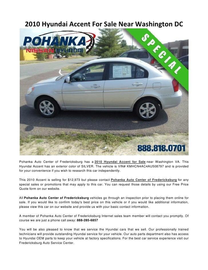 2010 Hyundai Accent For Sale Near Washington DC