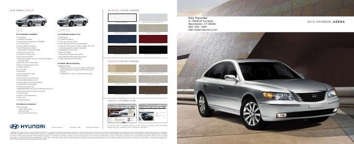 2010 Hyundai Azera Brochure Key Hyundai Manchester CT