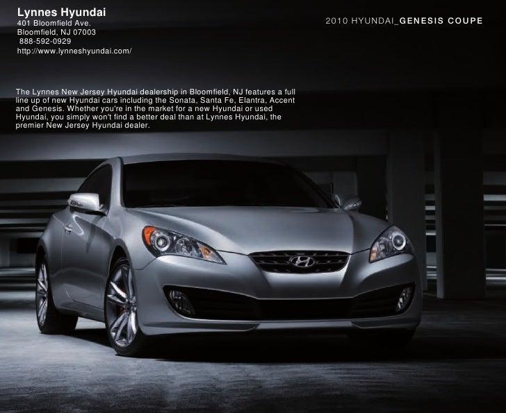 2010 Hyundai Genesis Coupe Brochure Lynnes Hyundai Bloomfield NJ