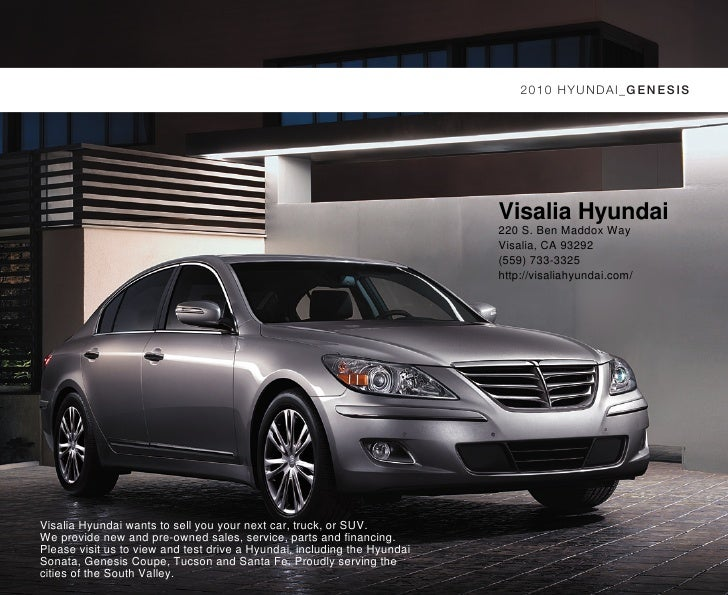 2010 HYUNDAI_GEN ESIS                                                                               Visalia Hyundai       ...