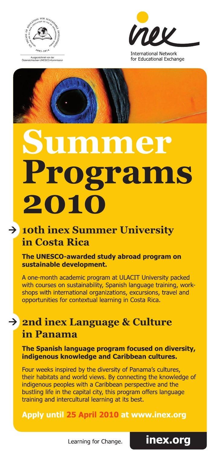 2010 Inex Study Programs In Costa Rica And Panama