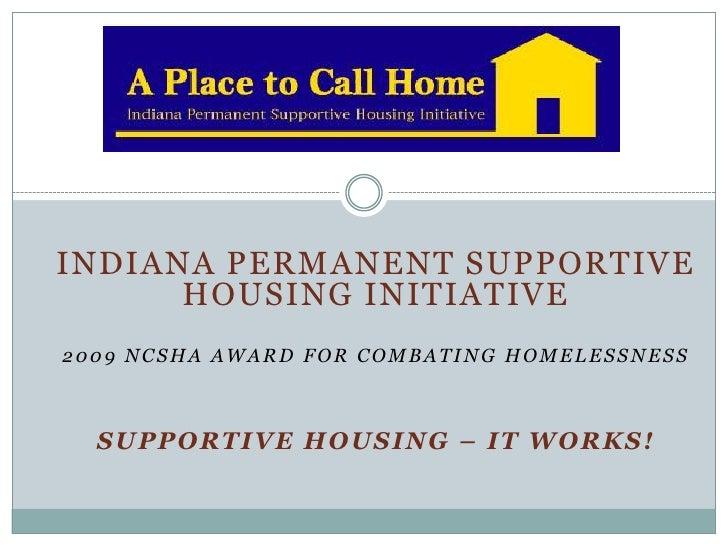 Indiana Permanent Supportive Housing Initative