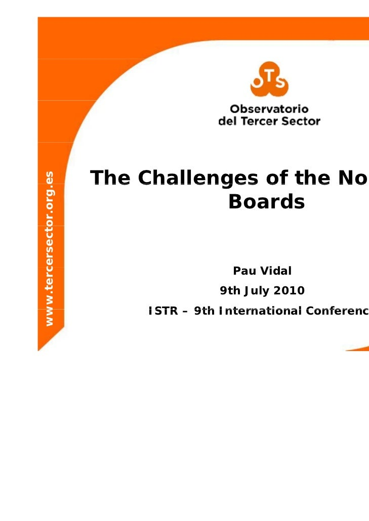 The Challenges of the Nonprofit                     es              or.org.e                                      Boards  ...