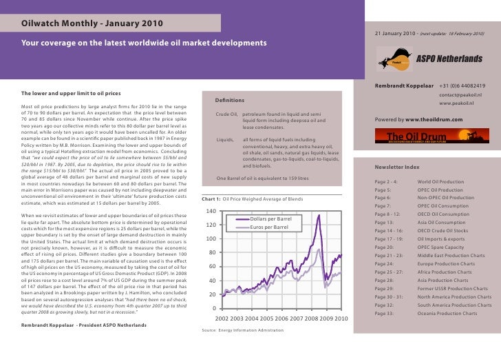 Oilwatch Monthly - January 2010