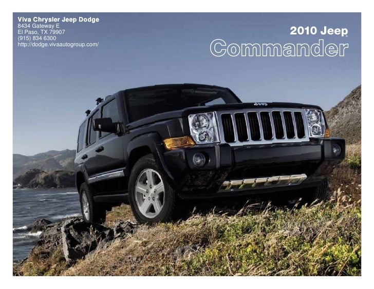 2010 Jeep Commander Viva Chrysler Jeep Dodge El Paso TX