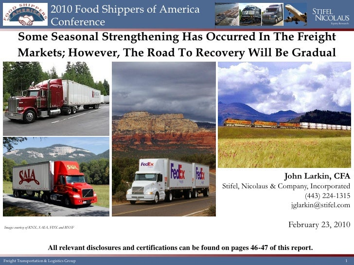 2010 Food Shippers of America                           Conference                                                        ...
