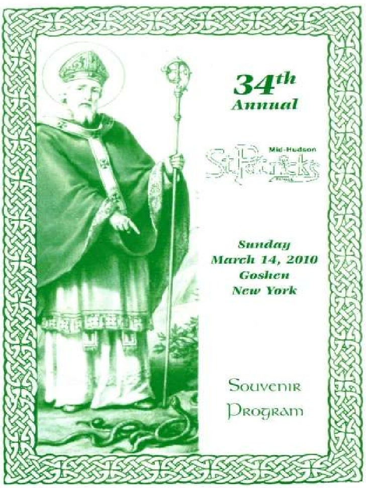 2010 St. Patrick's Mid Hudson Parade Journal