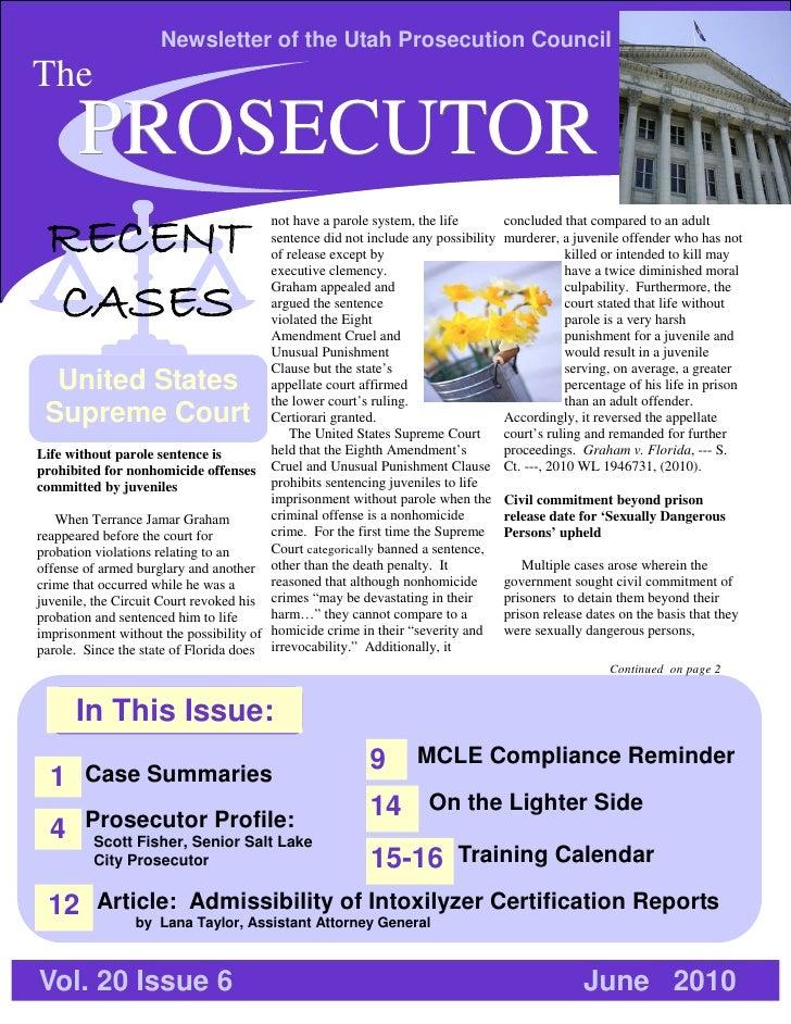 The Prosecutor - June 2010