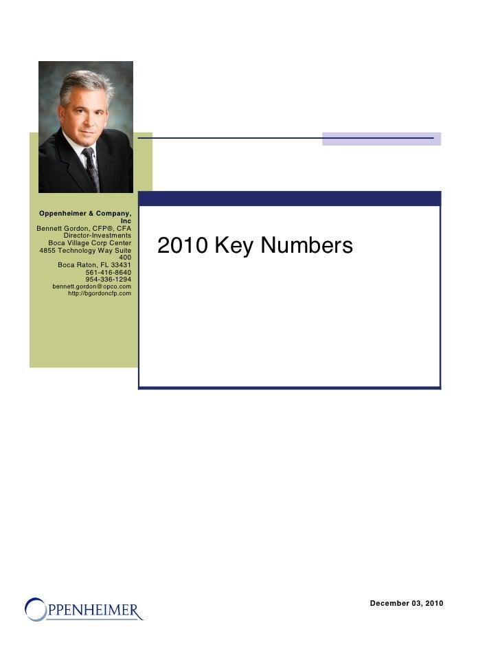 2010 Key Tax Numbers