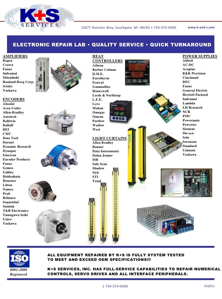 K+S Services, Inc. - Automation Repair Line Cards