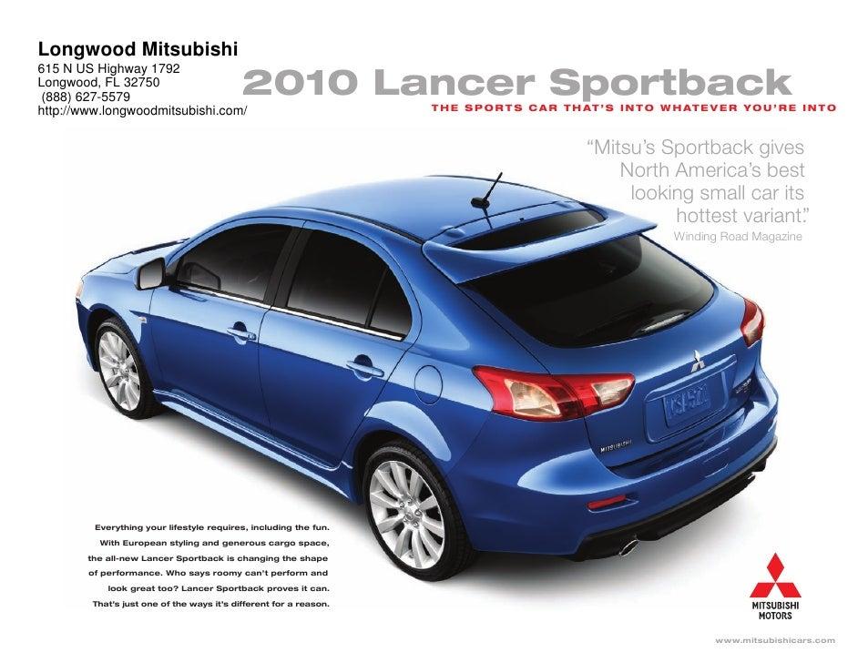 2010 Mitsubishi Lancer Sportback Longwood Mitsubishi