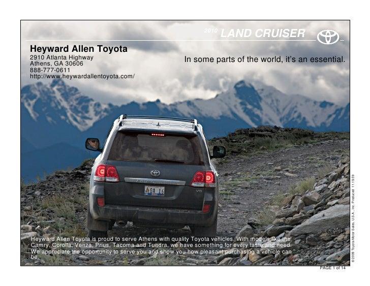 2010                                                                       LAND CRUISER Heyward Allen Toyota 2910 Atlanta ...