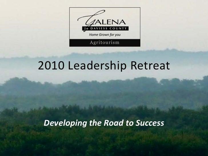 2010 Agritourism leadership retreat presentation