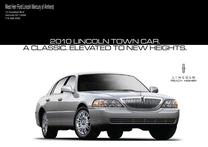 2010 Lincoln Town Car Buffalo
