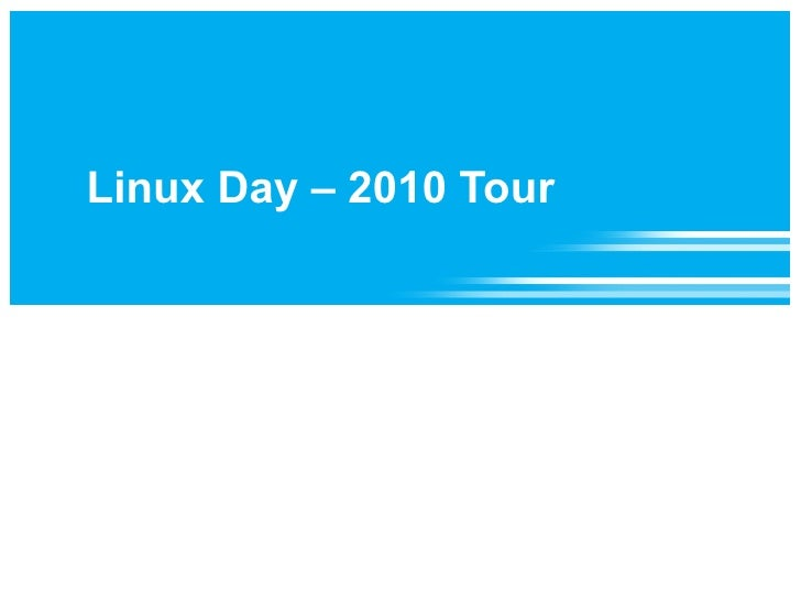 Slides from 2010 Linux Day
