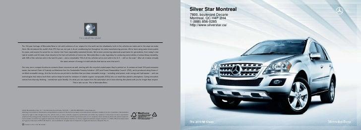 2011 Mercedes Benz ML350 SUV Silver Star Montreal QC Canada