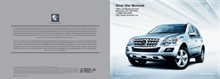 2011 Mercedes Benz ML350 BlueTEC SUV Silver Star Montreal QC Canada