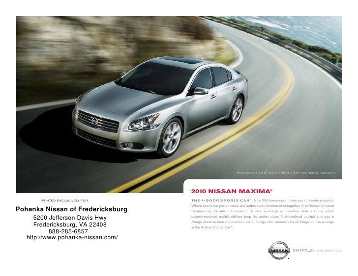 Pohanka Nissan Of Fredericksburg Upcomingcarshq Com