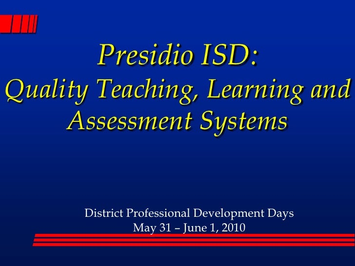 PISD Assessment and PLC Presentation