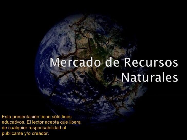 Mercado de recursos naturales