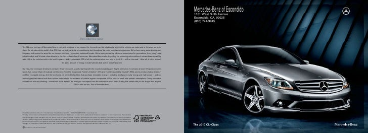 Mercedes-Benz of Escondido 1101 West Ninth Avenue Escondido, CA, 92025 (800) 741-9945