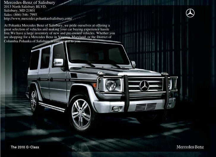 2010 mercedes benz g class in salisbury md for Mercedes benz of germantown md