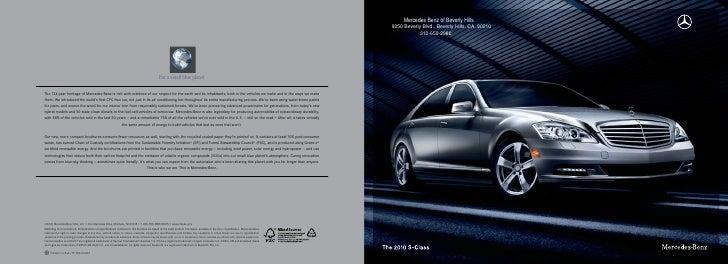 2010 Mercedes S Class Los Angeles