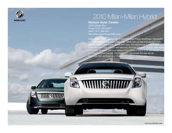 2010 Mercury Milan Nelson Auto Center in Fergus Falls MN