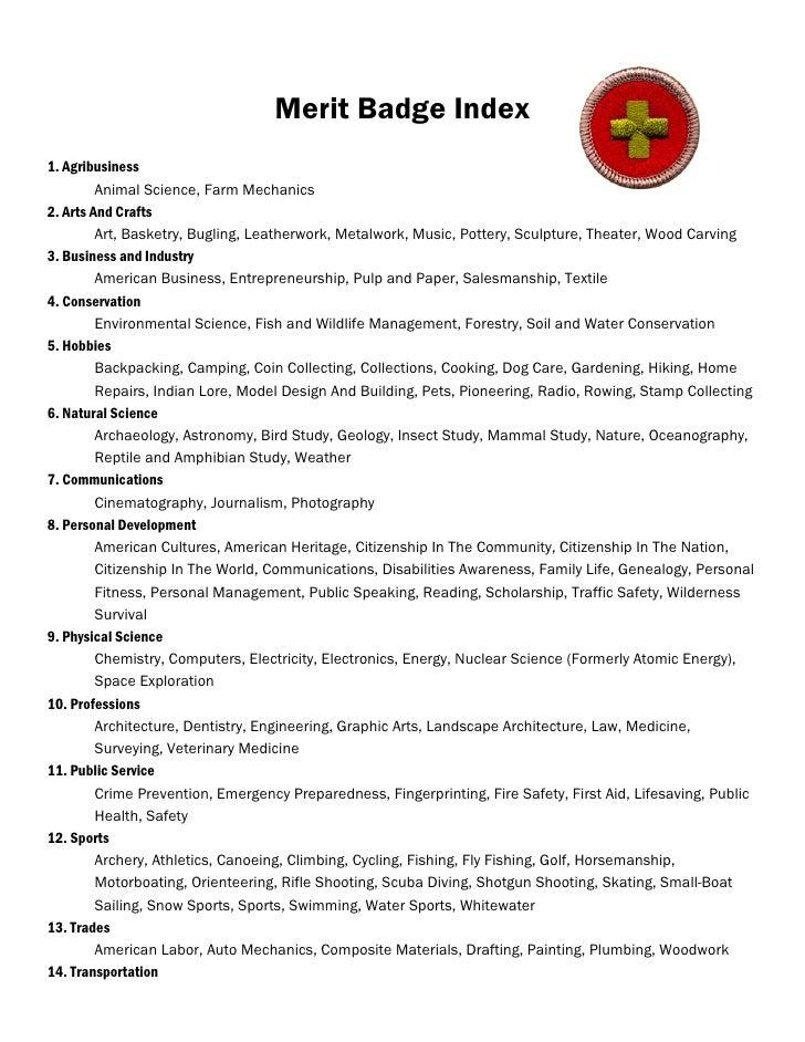Oceanography Merit Badge Merit Badge Index 1