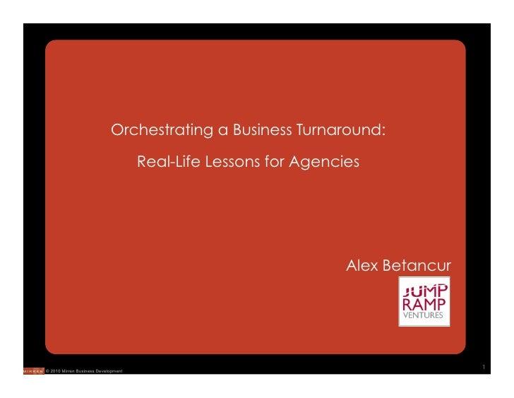 Mirren Conference: Orchestrating a Turnaround, Alex Betancur