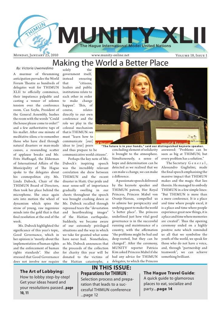 2010 MUNITY Volume 18 Issue 1