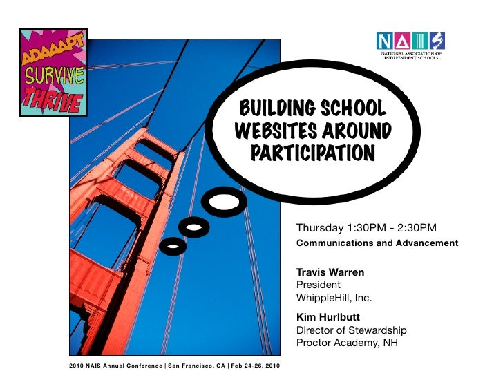 NAIS Building School Websites Around Participation