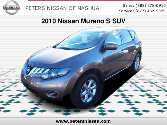 Used 2010 Nissan Murano S SUV - Your Nissan Dealer For New & Used Cars in Nashua, NH